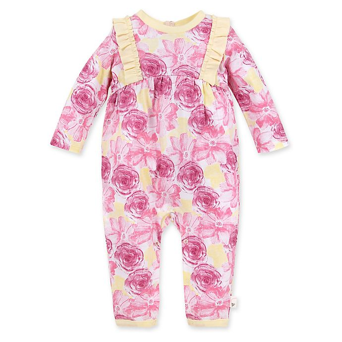 Alternate image 1 for Burt's Bees Baby® Vibrant Blooms Organic Cotton Coverall in Blossom