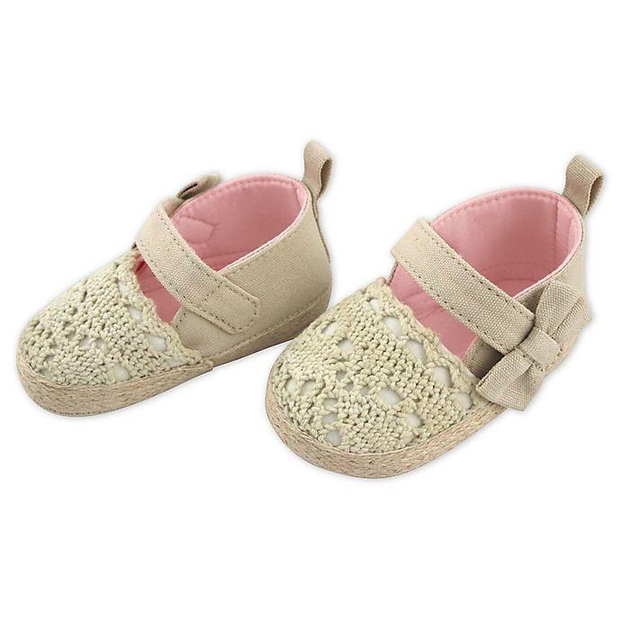 Alternate image 1 for Rising Star Crochet Espadrille Shoe in Natural
