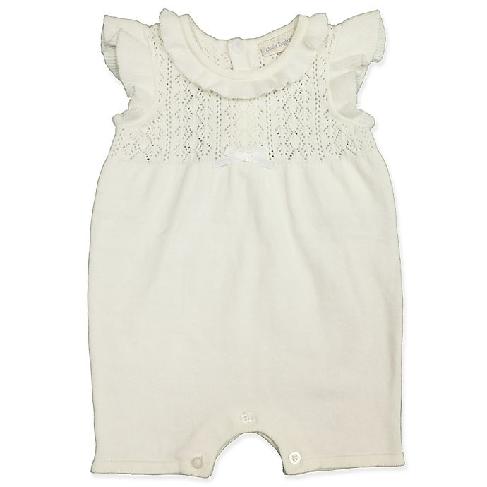 Alternate image 1 for Clasix Beginnings™ by Miniclasix® Newborn Sweater Romper in Ivory
