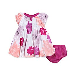 Burt's Bees Baby® Watercolor Spring Organic Cotton Bubble Dress with Diaper Cover