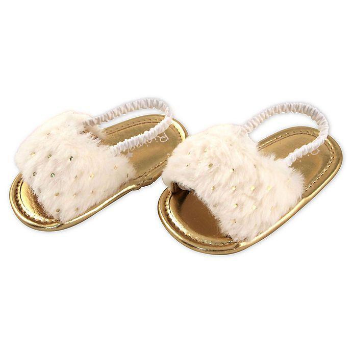 Alternate image 1 for Rising Star™ White Fur Sandal