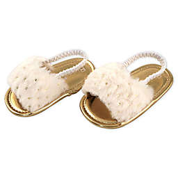 Rising Star™ White Fur Sandal
