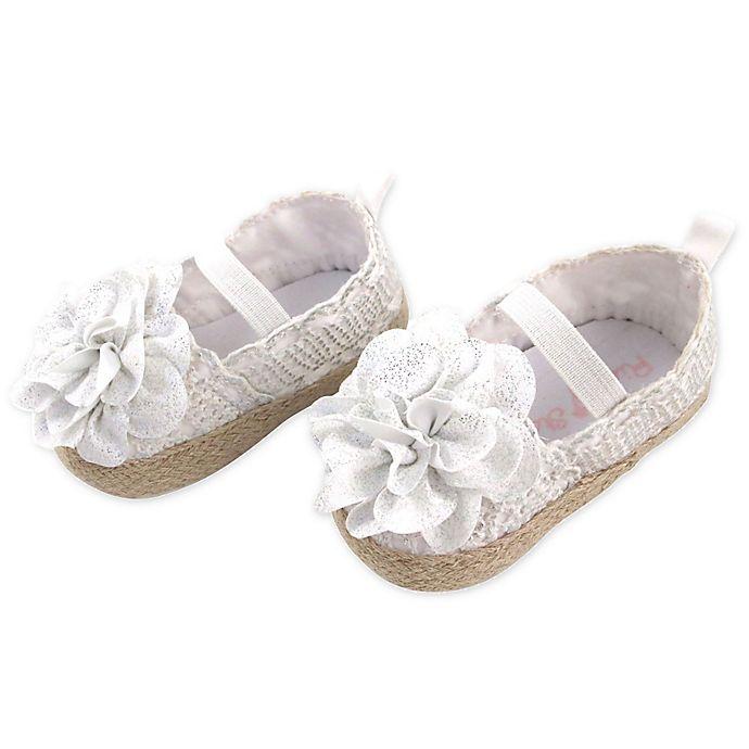 Alternate image 1 for Rising Star Flower Espadrille Shoe in White