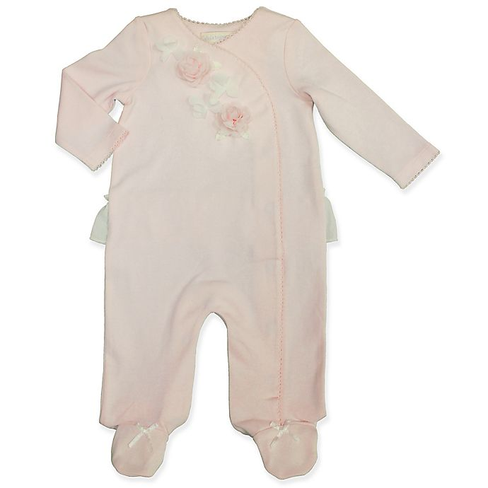 Alternate image 1 for Clasix Beginnings™ by Miniclasix® Floral Footed Coverall in Pink