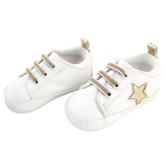 Alternate image 1 for Rising Star™ Gold Star Sneaker in White