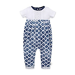 Burt's Bees Baby® Distressed Stone Jumpsuit in Indigo