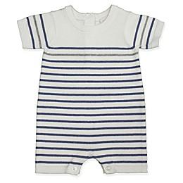 Clasix Beginnings™ by Miniclasix® Striped Sweater Romper in White