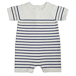 Clasix Beginnings™ by Miniclasix® Newborn Striped Sweater Romper in White
