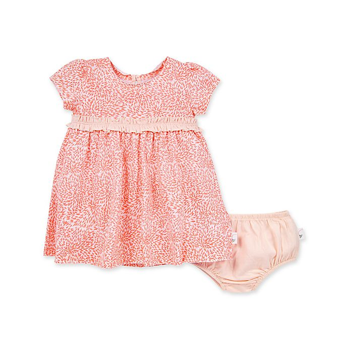 Alternate image 1 for Burt's Bees Baby® Secret Garden Organic Cotton Dress and Diaper Cover in Carnation