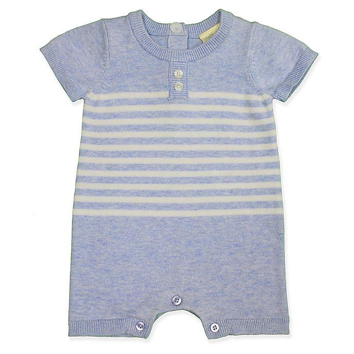 Alternate image 1 for Clasix Beginnings™ by Miniclasix® Stripe Sweater Romper in Blue