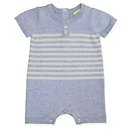 Clasix Beginnings™ by Miniclasix® Preemie Stripe Sweater Romper in Blue