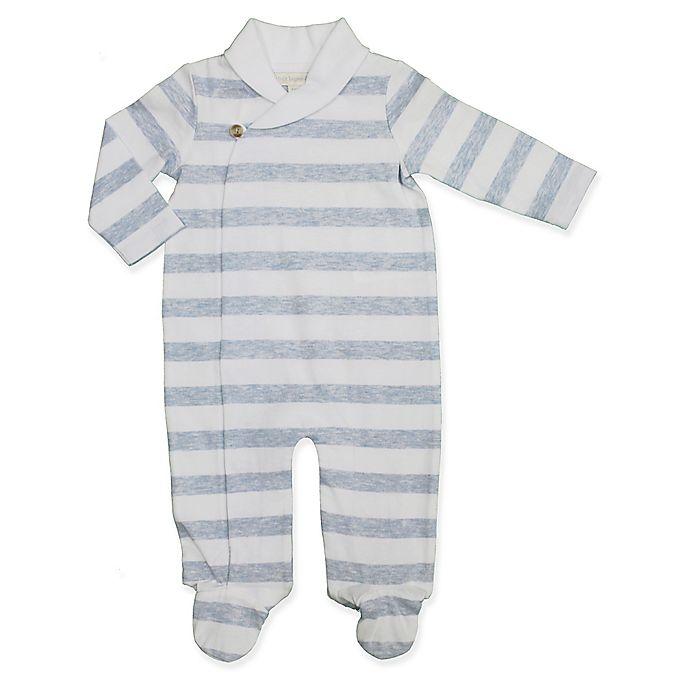 Alternate image 1 for Clasix Beginnings™ by Miniclasix® Stripe Kimono Footie in Blue