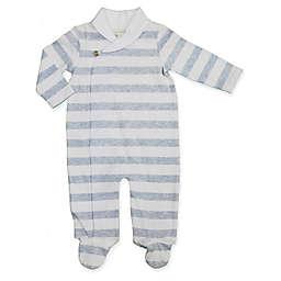 Clasix Beginnings™ by Miniclasix® Preemie Stripe Kimono Footie in Blue