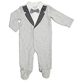 Clasix Beginnings™ by Miniclasix® Tuxedo Footie in Grey