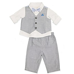 Clasix Beginnings™ by Miniclasix® 3-Piece Vest, Shirt and Pant Set in Grey