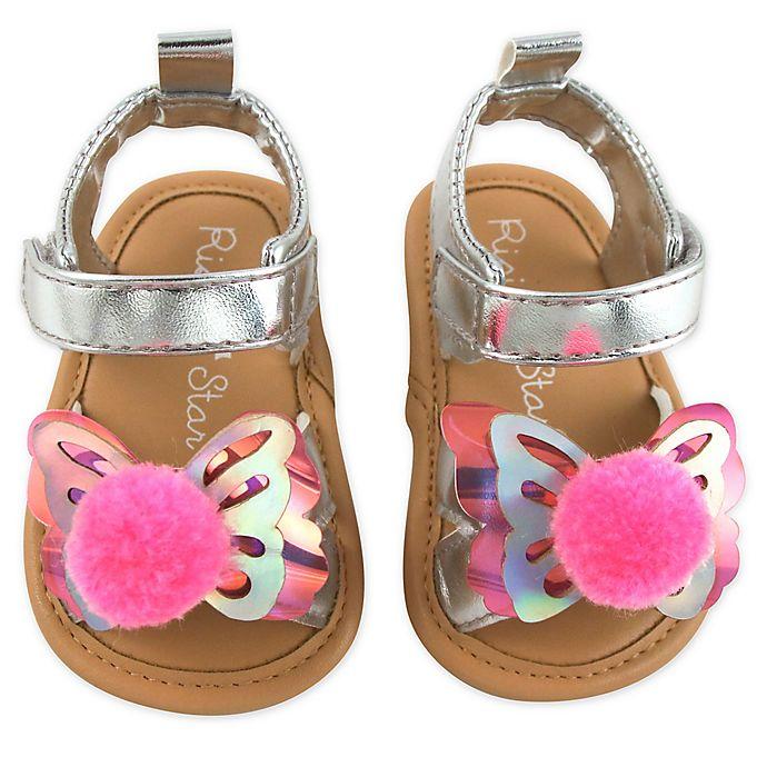 Alternate image 1 for Rising Star® Silver Butterfly Sandal