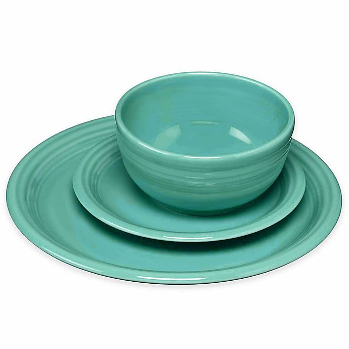 Alternate image 1 for Fiesta® Bistro Dinnerware Collection in Turquoise