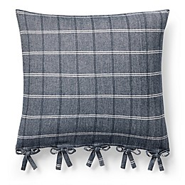 Lauren Ralph Lauren Eva Windowpane Square Throw Pillow in Blue/Grey