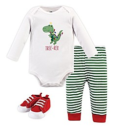Hudson Baby® 3-Piece Bodysuit, Pant and Shoe Set