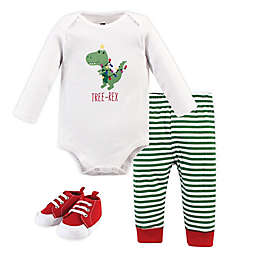 Hudson Baby® Size 12-18M 3-Piece Tree Rex Bodysuit, Pant and Shoe Set