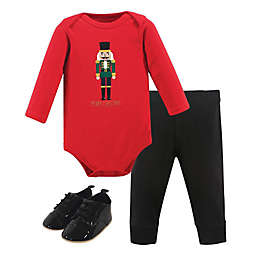 Hudson Baby® Size 3-6M 3-Piece Nutcracker Bodysuit, Pant and Shoe Set