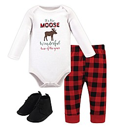 Hudson Baby® 3-Piece Bodysuit, Pant and Shoe Set