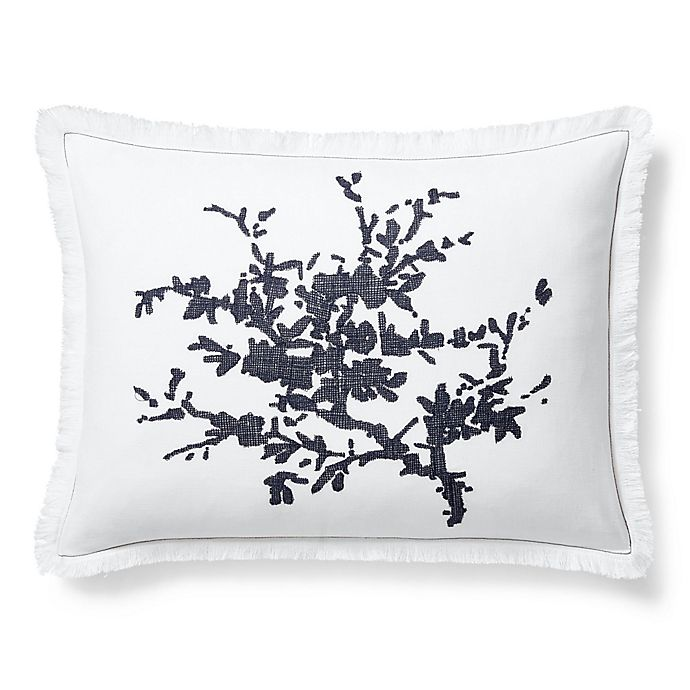 Alternate image 1 for Lauren Ralph Lauren Eva Oblong Throw Pillow in White