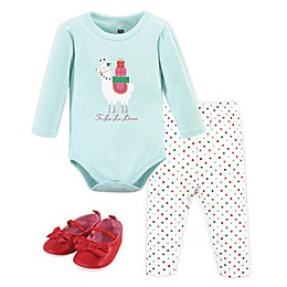 Hudson Baby® 3-Piece Magical Christmas Bodysuit, Pant and Shoe Set