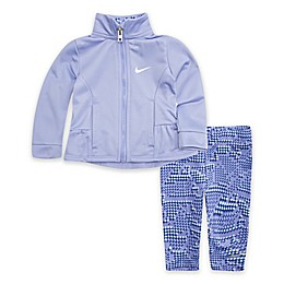 Nike® 2-Piece Tricot Track Jacket and Legging in Black/Teal