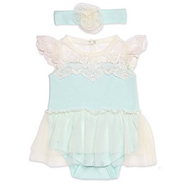 Baby Starters® 2-Piece Lace Skirted Bodysuit and Headband Set
