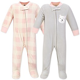 Hudson Baby® 2-Pack Fleece Coveralls
