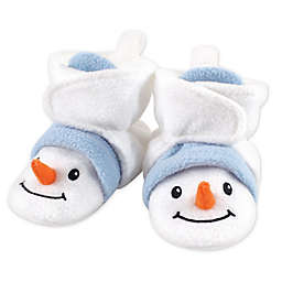 Hudson Baby® Size 0-6M Holiday Snowman Fleece Scooties in White