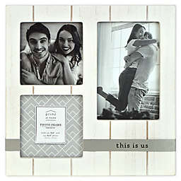 """Prinz """"This Is Us"""" Metal Band 3-Photo Picture Frame in White"""
