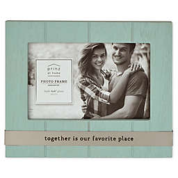 Prinz Together Metal Band 4-Inch x 6-Inch Picture Frame in Blue