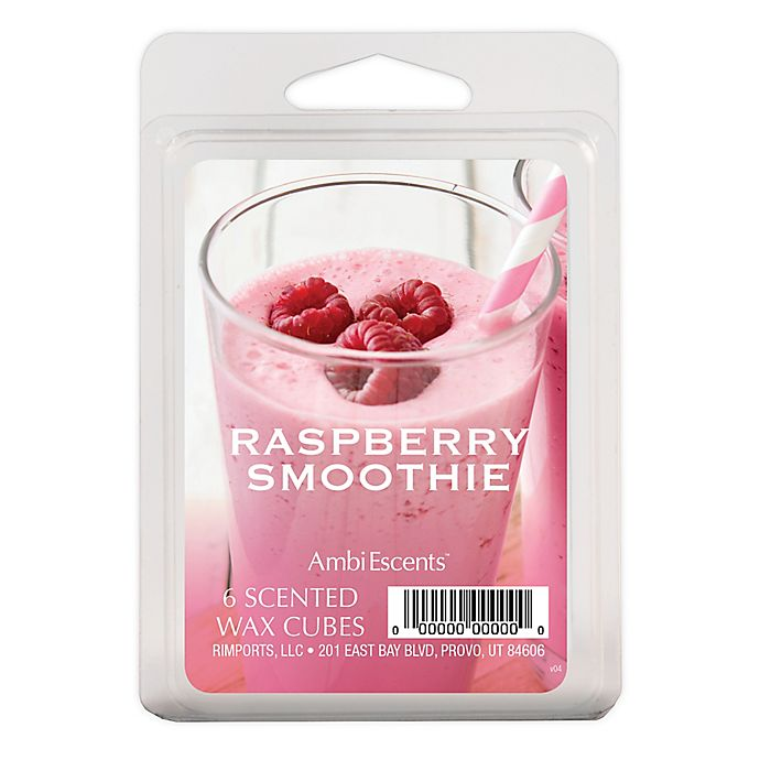 Alternate image 1 for AmbiEscents™ Raspberry Smoothie 6-Pack Scented Wax Cubes