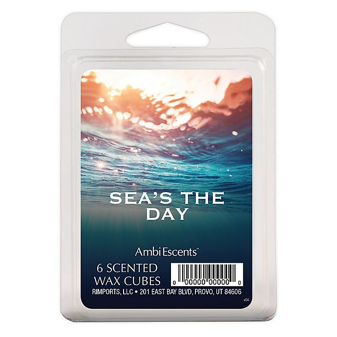 Alternate image 1 for AmbiEscents™ Sea's the Day 6-Pack Scented Wax Cubes