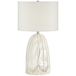 Pacific Coast® Lighting Rope Cage Table Lamp in White