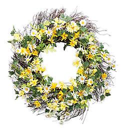 Boston International Yellw & White Daisies Wreath