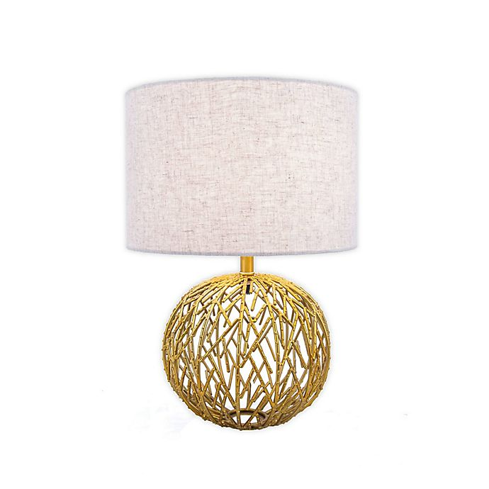 Alternate image 1 for nuLOOM Lattice Ball Table Lamp in Gold