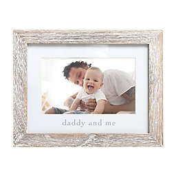 Pearhead® Daddy and Me 4-Inch x 6-Inch Wood Picture Frame in White
