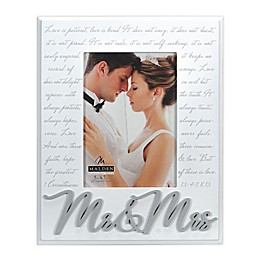 Malden® Mr. & Mrs. Corinthians Picture Frame in White