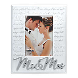 Malden® Mr & Mrs Corinthians Picture Frame in White