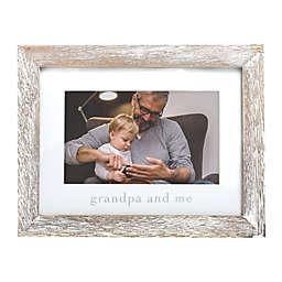 """Pearhead® """"Grandpa"""" Picture Frame in White"""