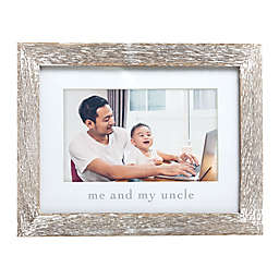 """Pearhead® """"Me & My Uncle"""" Picture Frame in White"""