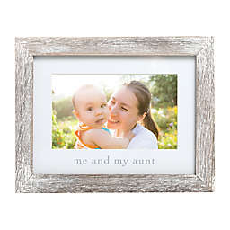 """Pearhead® """"Me & My Aunt"""" Picture Frame in White"""