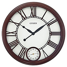 Citizen Gallery 24-Inch Sub-Dial Wall Clock in Brown