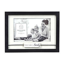 """Prinz """"Love Makes a Family"""" 4-Inch x 6-Inch Picture Frame in White"""