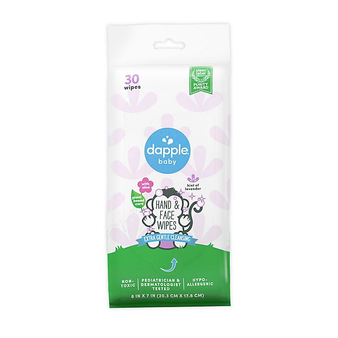 Alternate image 1 for dapple® 30-Count Hint of Lavender Hand and Face Wipes