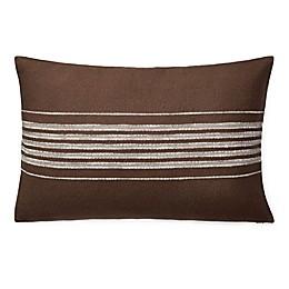 Lauren Ralph Lauren Mason Striped Oblong Throw Pillow in Brown/Cream