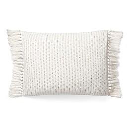 Lauren Ralph Lauren Mason Woven Oblong Throw Pillow in Cream/Taupe